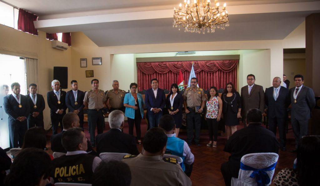Nota de juramentación del alcalde de Bellavista