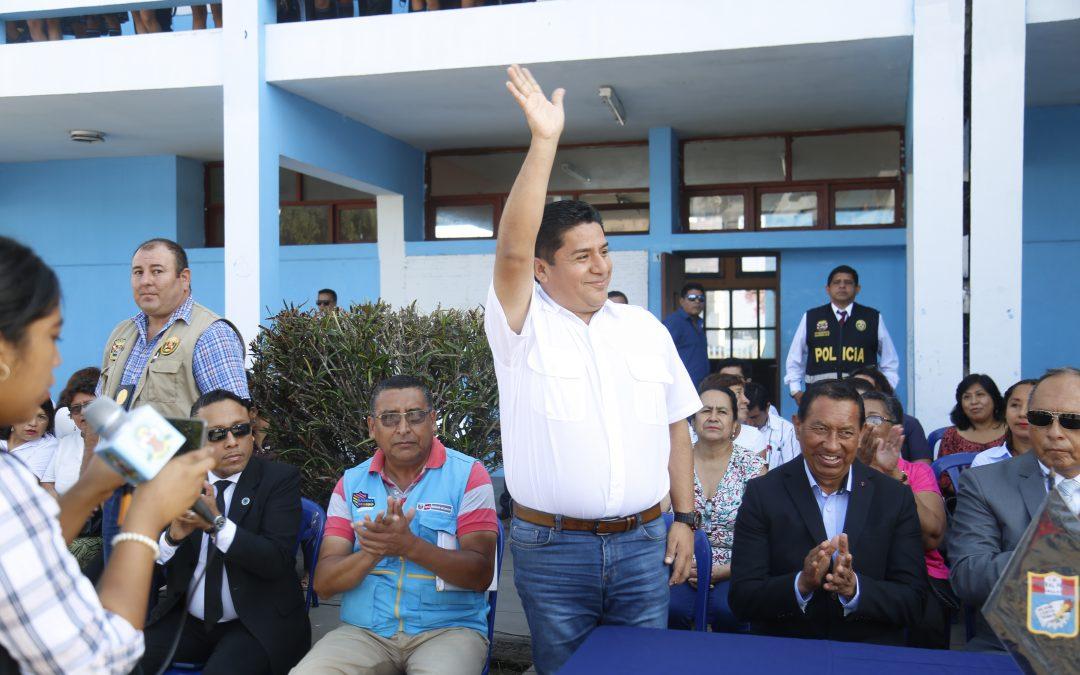 ALCALDES DE BELLAVISTA Y CALLAO PARTICIPAN DEL INICIO DE CLASES DEL COLEGIO GENERAL PRADO
