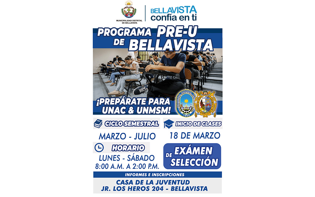 PROGRAMA PRE-U DE BELLAVISTA