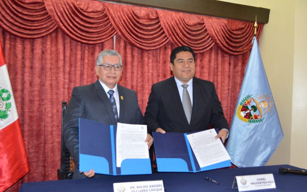 MUNICIPIO DE BELLAVISTA Y UNIVERSIDAD NACIONAL DEL CALLAO FIRMARON CONVENIO DE COOPERACIÓN INTERINSTITUCIONAL