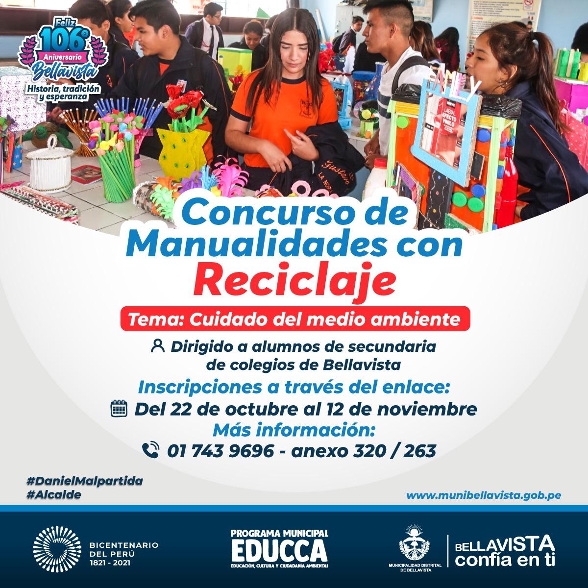 imagen de CONCURSO DE MANUALIDADES CON RECICLAJE
